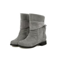 online store - 2016 New pu leather Fashion casual Warm boots motorcycle women ankle boots for women Lacu up plus size cheap online stores HSH HQ353