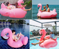 Wholesale Inflatable Floats Goose Summer Lake Rideable Inflatable Flamingo Giant Float Toy Swimming Boat with Pump for Adult W
