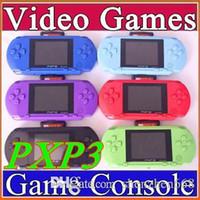 Wholesale Hot selling16 Bit Video Game Player PXP3 PXP Slim Station Pocket Game Game Card Retail Box A YXJ