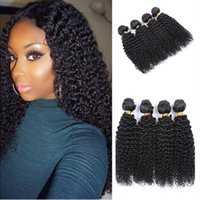 afro weave styles - Mongolian Afro Kinky Curly Human Hair Weaves Bundles Full Head Style Kinky Curly Hair Bundles Soft A Quality