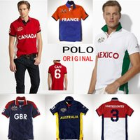 australia t shirt - Brand Designer Polo T Shirts For Men Cotton Embroidery USA CANADA United Kingdom Australia ITALY FRANCE Casual Men s Short Sleeve Shirt