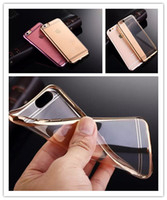 Wholesale For Galaxy S7 Case Colorful TPU Backcover Ultra Thin Case For Iphone s Plus Galaxy S6 Edge Note5 Electroplating Technology Soft Silicone