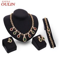 Wholesale 2016 New Europe and the United States exaggerated Jewelry Sets Necklace bracelet ring Earrings for Women wedding lady party