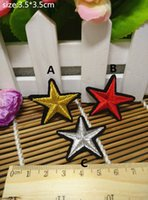 Patches accessories labels - 3 cm cm New fashion Five pointed star cartoon Badge Iron on Patches of Stickers Woven Label Patch DIY Cloth Accessories