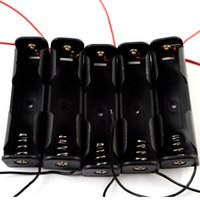 Wholesale 5Pcs No N Battery Case Holder Box with cable Black G00115