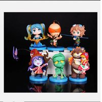 action collectibles - 2016 For League of Legends ACTION FIGURE SET OF Annie Sona Ezreal Amumu Leesin Lulu Good quality LOL Collectibles IN STOCK