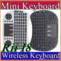 Wholesale 10X Wireless Keyboard rii mini i8 keyboards Fly Air Mouse Multi Media Remote Control Touchpad Handheld for TV BOX Android Mini PC B FS