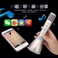 apple iphone song - 2016 Karaoke Fashionable Hot Sale K song Artifact K088 K068 Mini Portable Wireless Bluetooth Microphone Speaker Outdoor KTV OEM free shippin