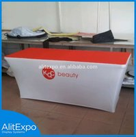 Wholesale Customed full color Dye Sublimation Printed table cloth table cover table throw Custom printed Table Throw Covers
