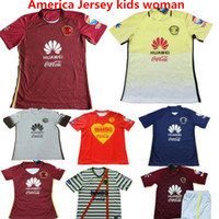 Wholesale 2016 Soccer Jersey America th Anniversary Red Football Shirt SAMBUEZA MICKY O PERALTA camisas de futbol America Maillot Red Yellow Kids