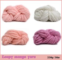 Wholesale Super Thick Yarns For hand knitting High Grade Thick hat Yarn Wool yarn crochet Comely Loopy mango g m