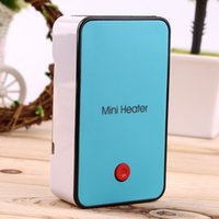 Wholesale Hot Handheld Mini Heater Desktop USB Heater Electric Heater Portable Office blue Durable