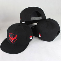 Wholesale Pokeball Cap Casual Poke Mon Embroidery Baseball Hat Instinct Valor Mystic Team Peaked Caps Snapbacks Hats for Adult and Kids