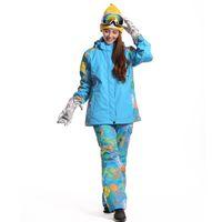 Wholesale Woman Ski Suit Waterproof Snowboard Jacket Women Winter Snow Skiing Jackets Men Trousers Pants Outdoor Sport Warm Snow Jacket