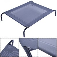 Wholesale New Large Dog Cat Bed Elevated Pet Cot Indoor Outdoor Camping Steel Frame Mat