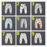 Wholesale 16 Design Kids INS Fruits Pants Baby Boy Girl Batman Geometric Figure Long Trousers Pants Shorts Leggings K7219