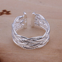 Wholesale Online for sale high grade Small textured silver ring TYSR023 brand new factory direct sale sterling silver finger rings