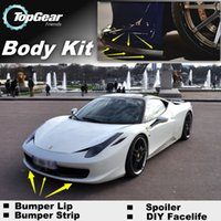 Wholesale Bumper Lip Lips For Ferrari Italia Front Skirt Deflector Spoiler For Car Tuning The Stig Recommend Body Kit Strip