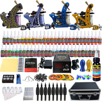 Cheap 4 Guns beginner professional tattoo kit Best Beginner Kit shader and liner cheap tattoo kits