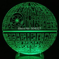 Cheap Free Shipping 1Piece The Force Awakens Death Star Change Color Table Lamp Micro USB Bulbing Light for Star Wars Fans