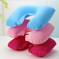 beach bedroom furniture - Outdoor camping inflatable sleeping bag pillows inflatable travel neck pillow inflatable beach pillow flocking air pillows