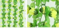 air earth - 15 off m artificial rose flowers Wisteria Vine flower Rattan Silk Flower for air condition Decoration wedding and Home Ornament