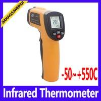 auto termometro - Benetech GM550E Non Contact Digital IR Infrared Thermometer Termometro Poin Auto Temperature Meter Sensor Gun
