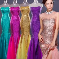art deco portraits - Sexy Sleeveless Long Evening Dresses Multi color Tulle Sequins Mermaid Slim Backless Evening Gown Sweetheart Party Prom Gowns YYF