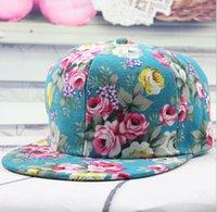 Wholesale summer style Brand Blank women cap Floral Script Snapback Hats men women designer flower baseball caps many styles