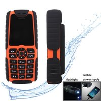 Wholesale Xiaocai X6 inch Outdoor Portable Waterproof Dustproof Shockproof Mobile Phone Orange mobile phone with flashlight