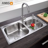 Wholesale Amigo SUS304 one mode finishing sink flexible wire processing surface smooth