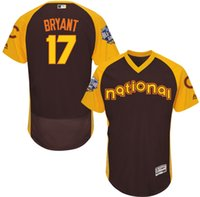 Wholesale 2016 Lastest All Stars Baseball Jerseys Brown Kris Bryant Baseball Shirts Mens Baseball Wear Athletic Outdoor Apparel On Sale