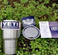 Wholesale 30 oz YETI Tumbler Rambler Cups Yeti Rambler Tumbler Stainless Steel oz Mugs Large Capacity Stainless Steel Travel Mug