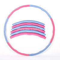 Wholesale The latest fitness hoelahoep PVC Removable Magnetic Therapy Massage Hula Hoops Chain Fitness Lose Weight bodybuilding