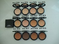 ac press - M AC Professional Makeup High Quality Studio Fix Powder Plus Foundation Press Make up Face Powder Puffs g DHL