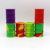 Wholesale 2016 New ml Dab Container Platinum Cured Silicone Oil Wax Slicks Container For Wax Silicone Barrel Container With Various Color