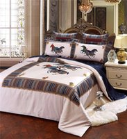 Wholesale 4 luxury Supima printed horse geometric Exclusive to Dubai hotels Sheets bedding sets King Queen sheet