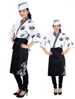 Wholesale Korean Japanese restaurant chef uniform waiter work clothes the Japanese cuisine unisex overalls in summer