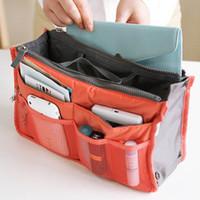 Wholesale Practical Handbag Purse Nylon Dual Organizer Insert Cosmetic Storage Bag