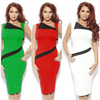 Wholesale Europe and the United States women s cultivate one s morality dress package buttocks sleeveless bump color pencil