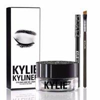 Wholesale Kylie Gel Eyebrow Liner Kit Jenner Kyliner In Black With Eyeliner Gel pot Brush set eyeliner brush cream MR214