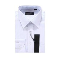 Wholesale Men Shirt pinstripe Brand Shirt Men Business Casual Long Sleeve Fashion Men Dress Shirt Men Clothes plus Size S XL