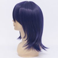 Wholesale 2014 Synthetic Dark Purple cm Straight Heat Resistance Party Costume Cosplay Short Wig cosplay products