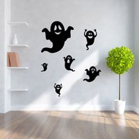 Wholesale 2pcs Halloween Ghost Wall Stickers Decor Home Decoration Size cm DIY Design D Wallpaper For Kids Rooms