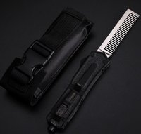 Wholesale 2017 Microtech automatic Scarab comb Aluminum Handle OTF comb double action Out TF comb