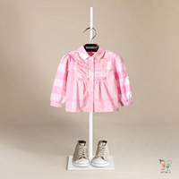 Wholesale new high quality Kids plain solid colour long sleeves girl shirts size1 years old
