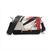 Wholesale 2016 Fashion Women s Flap Bags Graffiti Mosaic Stones Handbags Shoulder Messenger Bags Famous Brand Bags