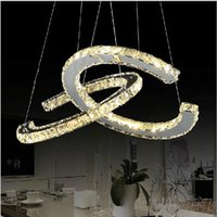 bay switch - New Arrival Diamond Crystal LED Pendant Light Round Circle Dinging pendent Lamp Modern AC110 V for living room bay coffee room decoration