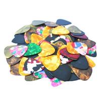 Wholesale 100Pcs set Plastic Nylon Guitar Picks Multi Colors Folk Guitar Plectrums with Opp bag Packing S326