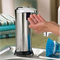 Wholesale Automatic Handsfree Sensor Soap Sanitizer Dispenser Touch free Kitchen Bathroom